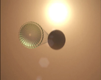 simulated rover with parachute